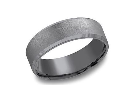 6.5mm wide Black Tantalum with a Wire Brush Finish