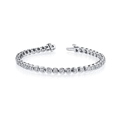 14Kt White Gold Classic Diamond Bracelet
