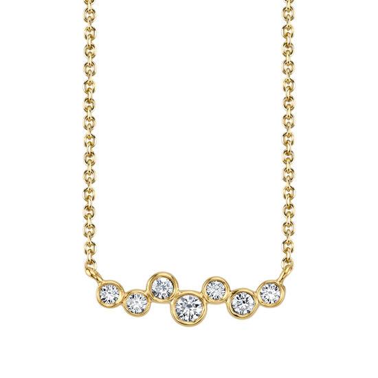 14Kt Yellow gold Trail of Bezel set Diamonds
