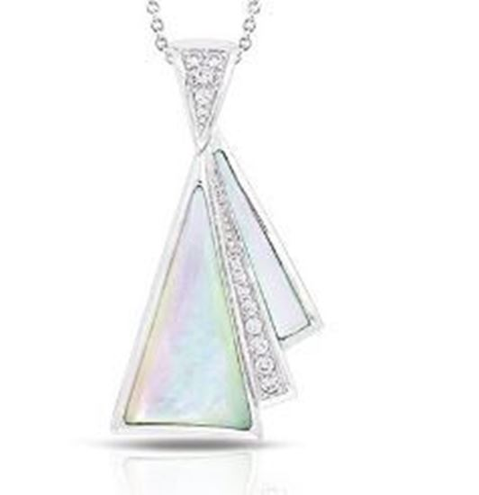 Sterling Silver Empire Genuine Mother of Pearl Pendant.