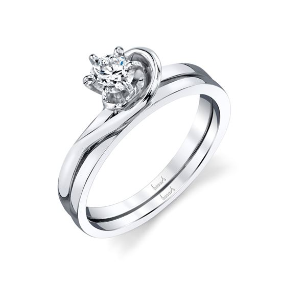 14Kt White Gold Solitaire with a Twist