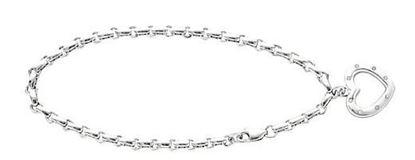 Sterling Silver Diamond Heart Bracelet