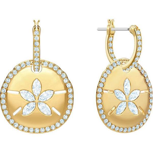 Ocean mini hoop sand coin earrings.
