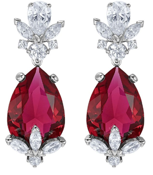 Louison Red pierced earrings