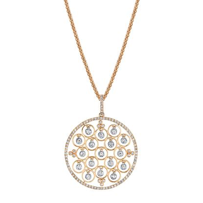 14kt Rose and White Gold Mosaic Pendant