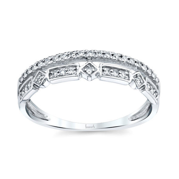 14kt White Gold Diamond Two in One Stackable Ring