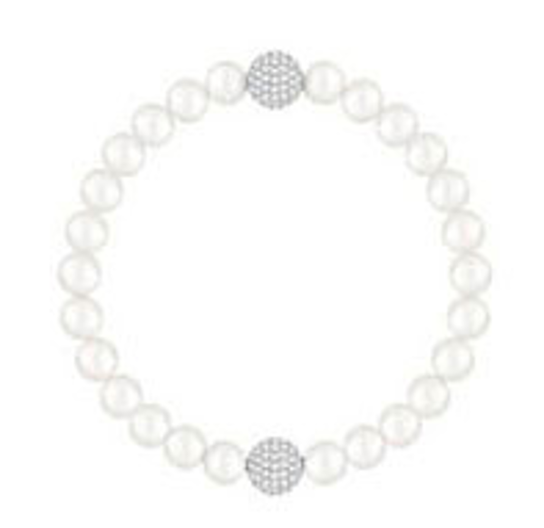 Remix White Crystal Pearl Bracelet