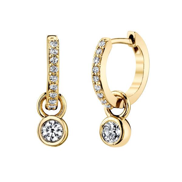 14kt Yellow Gold Two in One Diamond Hoop Earring