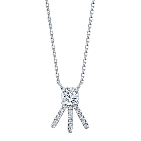 14kt White Gold Stand Out Diamond Necklace