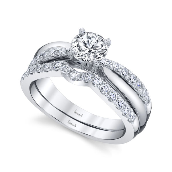 14kt White Gold Sophisticated Diamond Engagement Ring