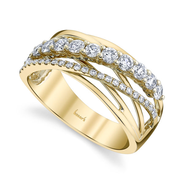 14kt Yellow Gold Criss Cross Anniversary Band