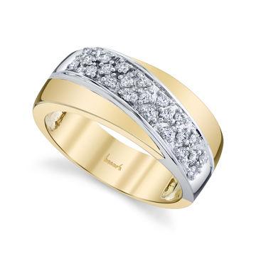 14kt Yellow and White Gold Pave Set Diamond Band
