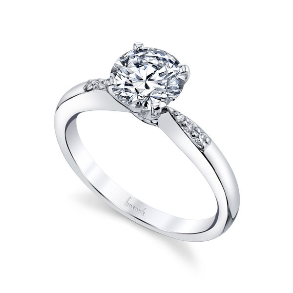 14kt White Gold Slender Diamond Engagement Ring