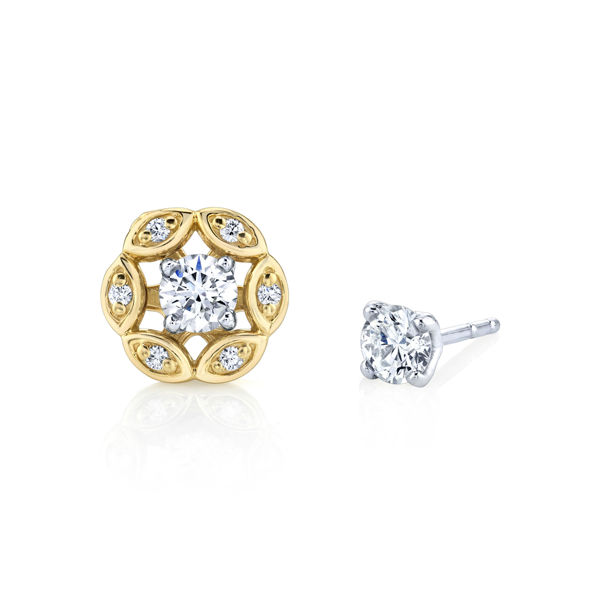 14kt Yellow Gold Floral Diamond Jackets