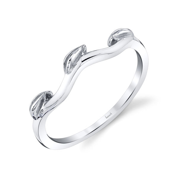 14kt White Gold Wavy Vine Stackable Ring