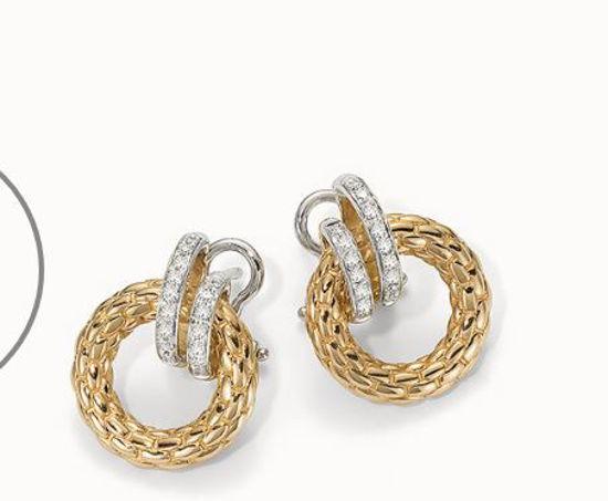 18Kt Yellow gold Solo Diamond Earrings