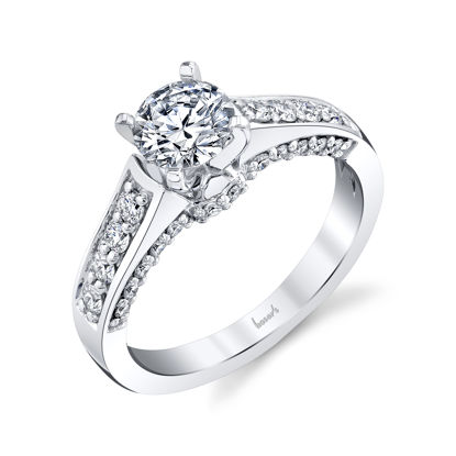 14kt White Gold Dimensional Diamond Engagement Ring