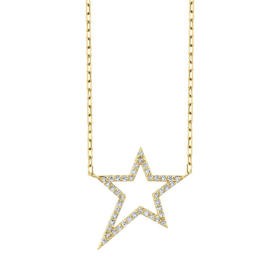 14kt Yellow Gold Diamond RockSTAR Necklace