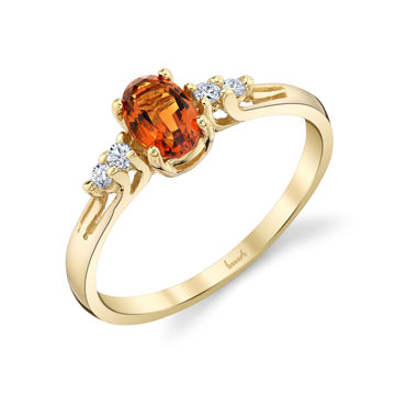 14kt Yellow Gold Oval Citrine and Diamond Ring